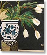 White Tulips Metal Print by Lynda K Boardman
