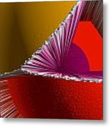 3d Abstract 5 Metal Print by Angelina Vick