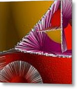 3d Abstract 6 Metal Print by Angelina Vick