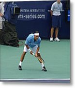 Roger Federer After 1st Slam Metal Print by Rexford L Powell