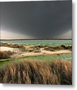 A Storm A Coming - Outer Banks I Metal Print by Dan Carmichael