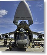 Airmen And Soldiers Load A Ch-47 Metal Print by Stocktrek Images