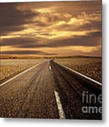Alone Road Metal Print by Boon Mee