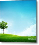 Alone Tree Metal Print by Boon Mee
