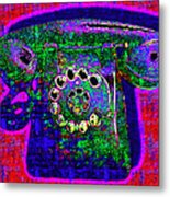 Analog A-phone - 2013-0121 - V4 Metal Print by Wingsdomain Art and Photography