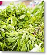 Asian Market Vegetable Metal Print by Tuimages