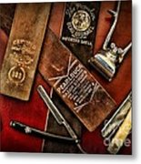Barber - Barber Tools Of The Trade Metal Print by Paul Ward