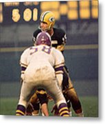 Bart Starr Looks Around Metal Print by Retro Images Archive