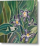 Batik Detail - Pushkinia Metal Print by Anna Lisa Yoder