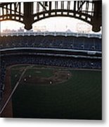Beatiful View Of Old Yankee Stadium Metal Print by Retro Images Archive