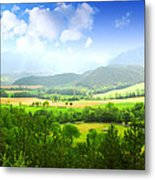 Beautiful Greens Landscape Metal Print by Boon Mee