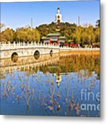 Beijing Beihai Park And The White Pagoda Metal Print by Colin and Linda McKie
