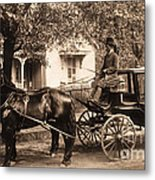 Black Family In Buggy Metal Print by Paul W Faust -  Impressions of Light