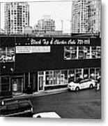 black top and checker cabs office Vancouver BC Canada Metal Print by Joe Fox