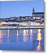 Blois Loire Valley Panorama Twilight  Centre France Metal Print by Colin and Linda McKie
