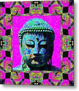 Buddha Abstract Window 20130130p0 Metal Print by Wingsdomain Art and Photography