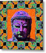 Buddha Abstract Window 20130130p85 Metal Print by Wingsdomain Art and Photography