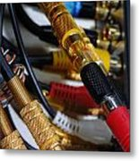 Cables And Wires Metal Print by Amy Cicconi