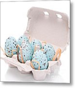 Carton Of Easter Eggs Metal Print by Amanda And Christopher Elwell