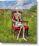 Catching Up On Human Anatomy And Physiology Metal Print by Betsy Knapp