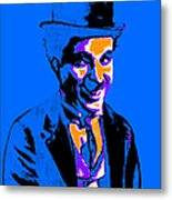 Charlie Chaplin 20130212m145 Metal Print by Wingsdomain Art and Photography
