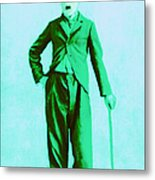 Charlie Chaplin The Tramp 20130216m150 Metal Print by Wingsdomain Art and Photography