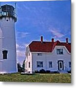Chatham Light Metal Print by Skip Willits
