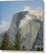 Clouds Around Half Dome  Metal Print by Jim and Emily Bush