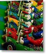 Clowns In Cars Amusement Park Game Metal Print by Amy Cicconi