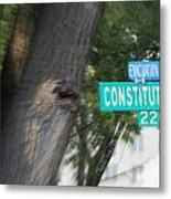 Constitution Ave 2200 Metal Print by Angelia Hodges Clay
