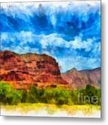 Courthouse Butte Sedona Arizona Metal Print by Amy Cicconi