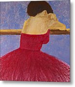 Dancer In The Red Dress Metal Print by David Patterson