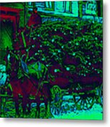 Delivering The Christmas Trees - 20130208 Metal Print by Wingsdomain Art and Photography