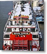 Delta Queen In Christmas Snow Metal Print by Tom and Pat Cory