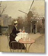 Eating Al Fresco Metal Print by Ramon Casas i Carbo