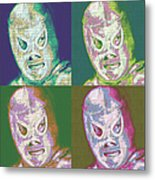 El Santo The Masked Wrestler Four 20130218 Metal Print by Wingsdomain Art and Photography