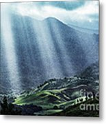 El Yunque And Sun Rays Metal Print by Thomas R Fletcher