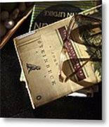 Enlightened Reading Metal Print by Peter Chilelli