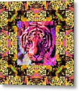 Eyes Of The Bengal Tiger Abstract Window 20130205p80 Metal Print by Wingsdomain Art and Photography