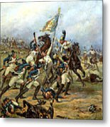 Fight For The Banner Metal Print by Victor Mazurovsky