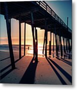 Fishing At Frisco Outer Banks Metal Print by Dan Carmichael