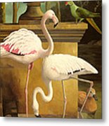 Flamingos Metal Print by Lizzie Riches
