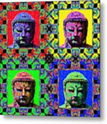 Four Buddhas 20130130 Metal Print by Wingsdomain Art and Photography
