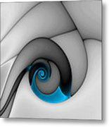 Fractures Curl Blue Metal Print by Mark Eggleston