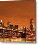 From Brooklyn To Manhattan Metal Print by Andreas Freund