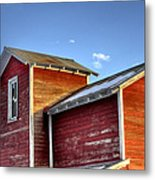 Ft Collins Barn Sunset 13505 Metal Print by Jerry Sodorff