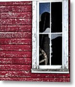 Ft Collins Barn Window 13568 Metal Print by Jerry Sodorff