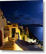 Full Moon At Santorini Metal Print by Aiolos Greek Collections