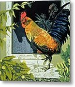 Gamecock And Hen Metal Print by Carol Walklin
