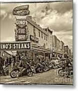 Geno's With Cycles Metal Print by Jack Paolini